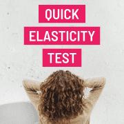 elasticity test for hair