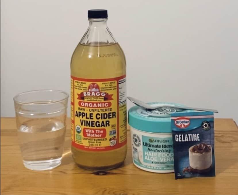 gelatine hair mask ingredients