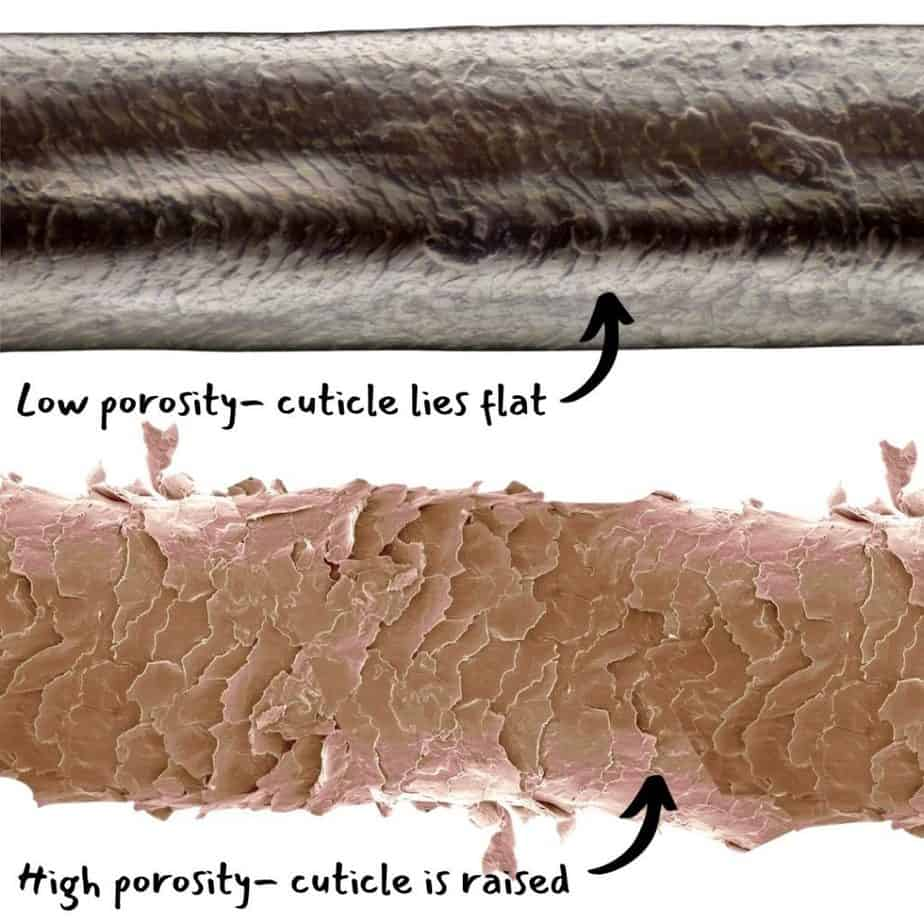 colouring curly hair affects the cuticle and can damage it